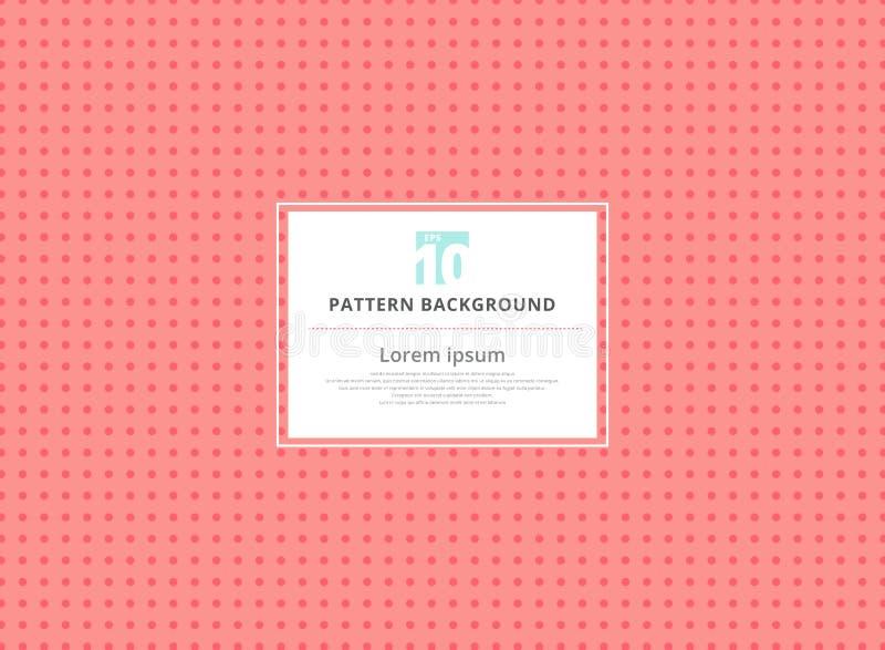 Abstract circle pink seamless polka dots pattern background. Vector illustration royalty free illustration