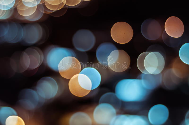 Abstract circle shape bokeh background of Kuala Lumpur. Bokeh is often most visible around small background highlights, such as specular reflections and light royalty free stock photos