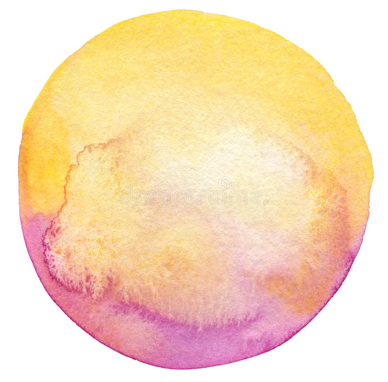 Free Abstract Circle Watercolor Painted Background Royalty Free Stock Photos - 38293348