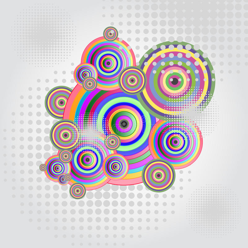 Abstract circles stock illustration