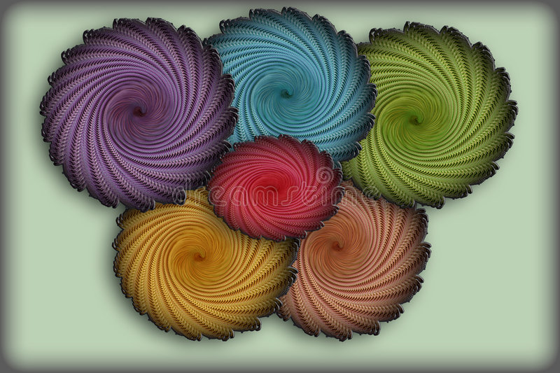 Abstract circles. Varicoloured, abstract circles on gradient background royalty free illustration