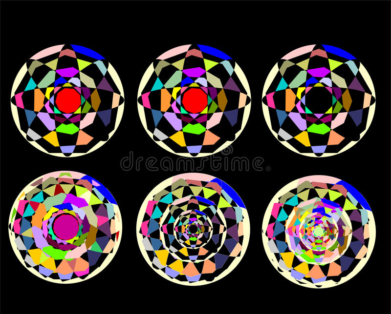 Download Abstract Circles On A Black Background. Template Stock Vector - Image: 33864204
