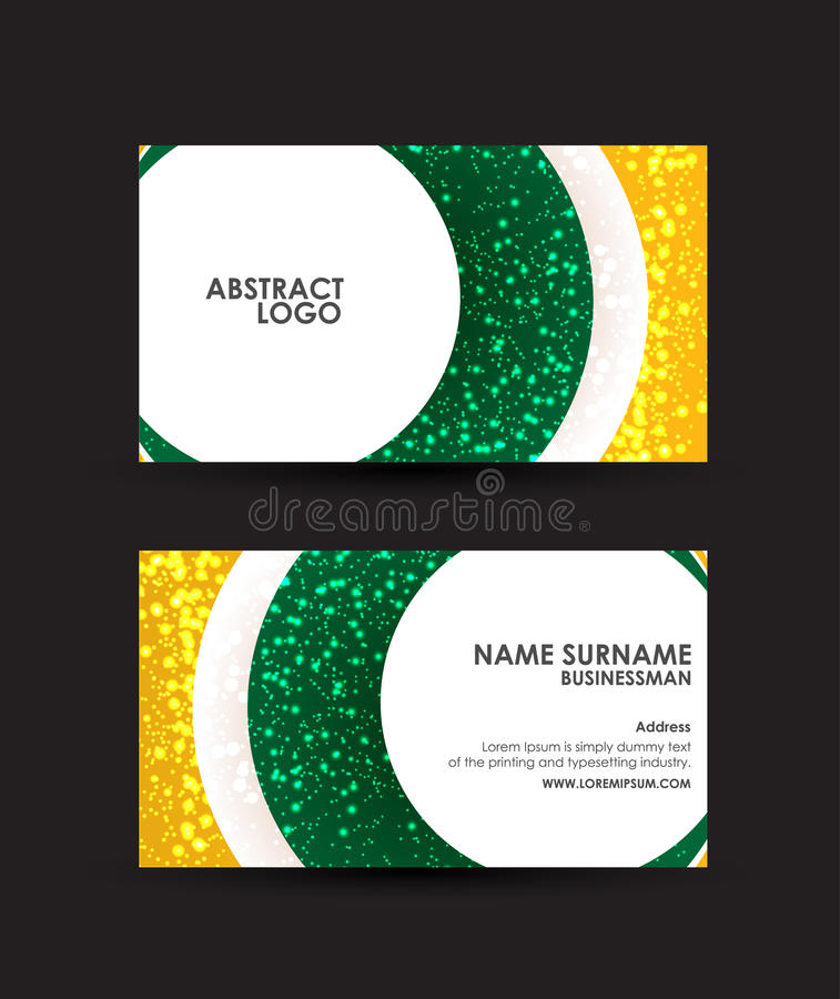 Abstract circles business card vector design template stock vector download abstract circles business card vector design template stock vector illustration of background reheart Images