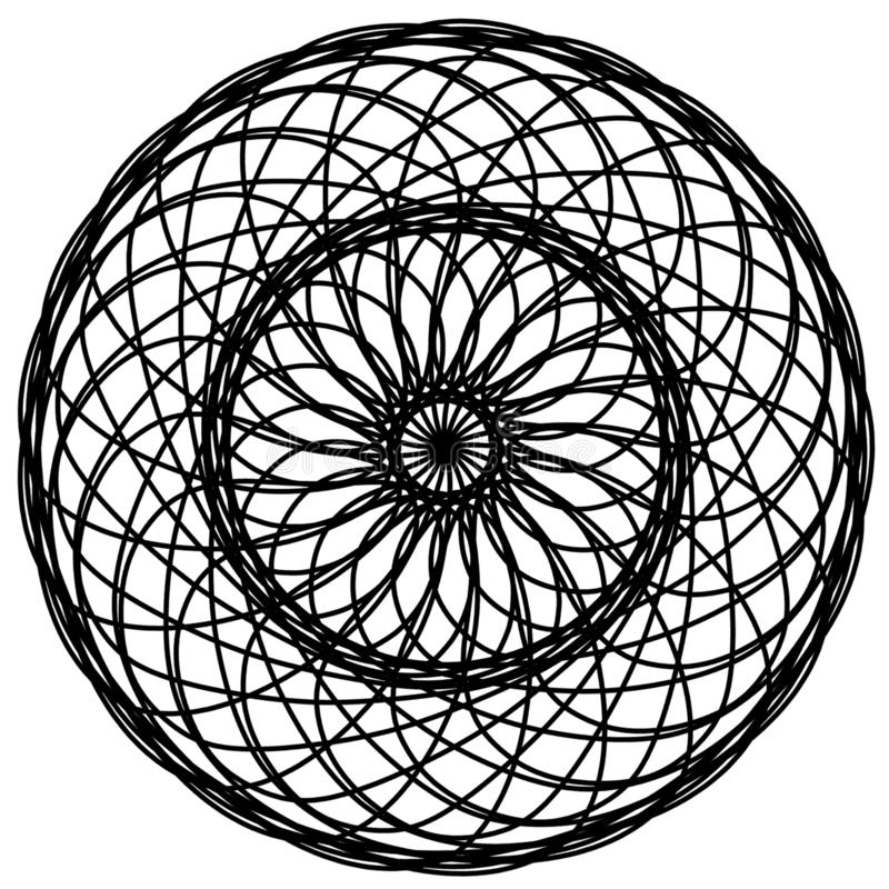 Abstract circles elements. Dreamcatcher. royalty free illustration