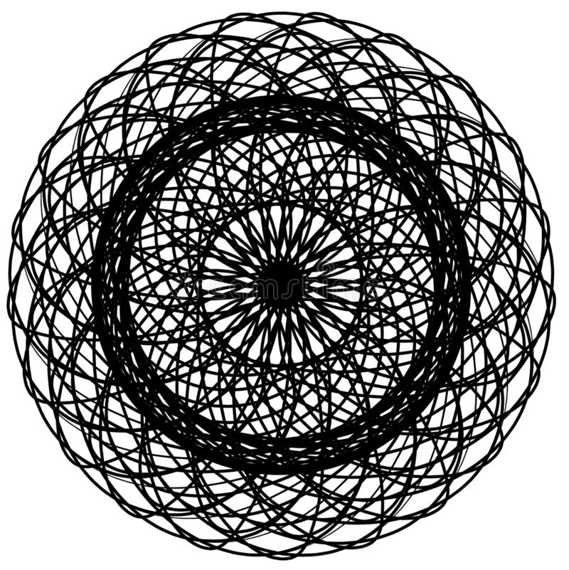 Abstract circles elements. Dreamcatcher. vector illustration