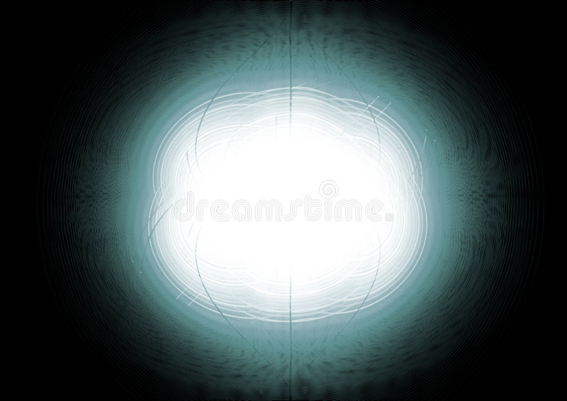 Abstract circles in green stock illustration