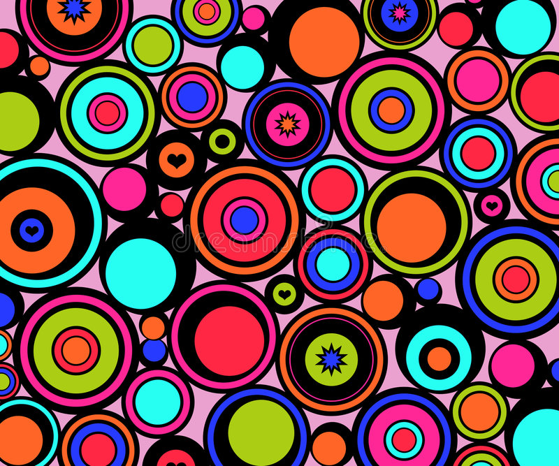 abstract circles retro διανυσματική απεικόνιση