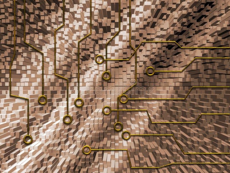 Abstract circuit stock illustration