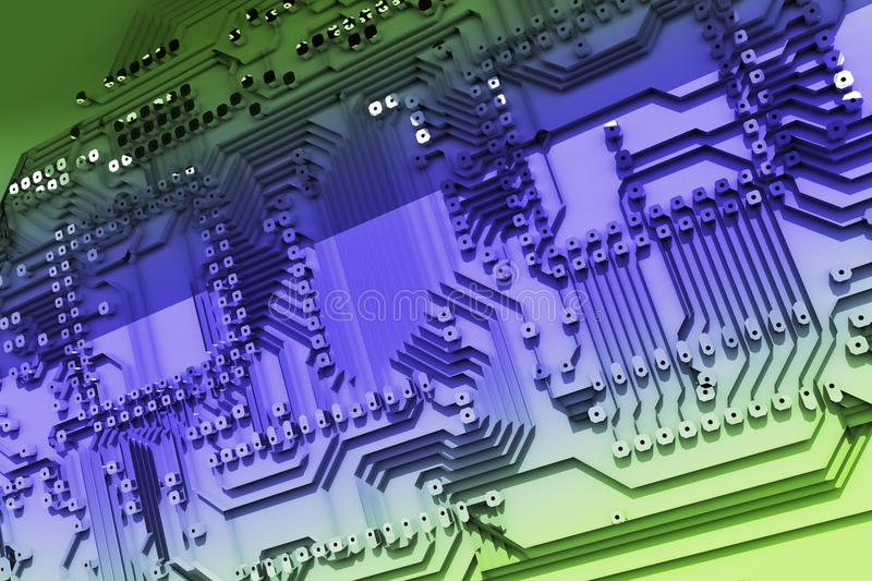 Abstract Circuit Board royalty free illustration