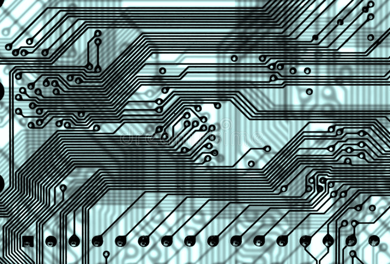 Abstract circuit board background in hi-tech style