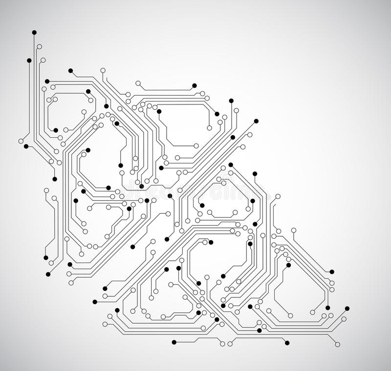 Abstract circuit board background - vector royalty free illustration