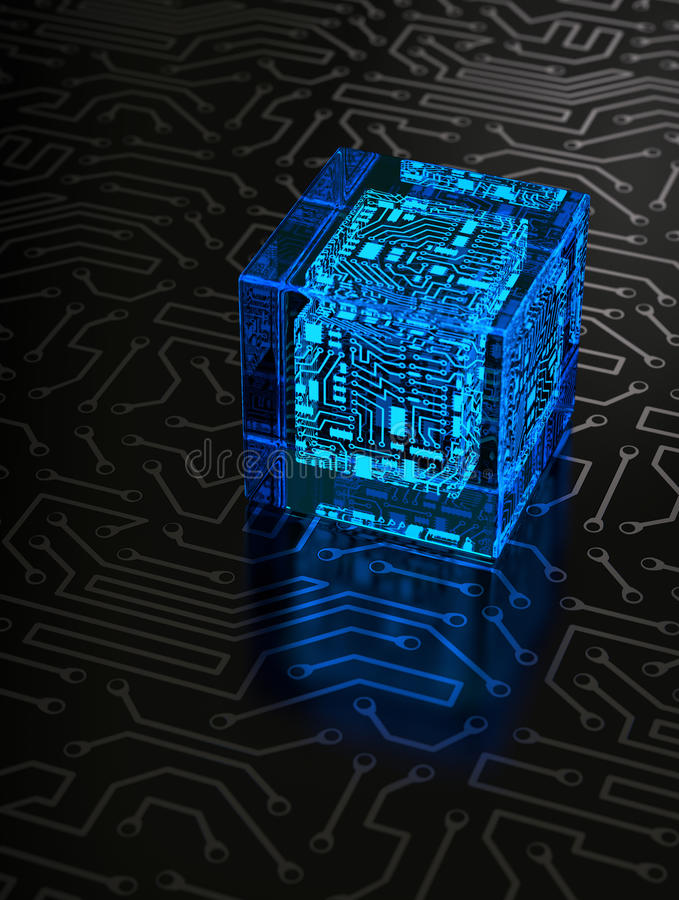 Download Abstract Circuit Cube stock image. Image of dark, circuit - 27331101