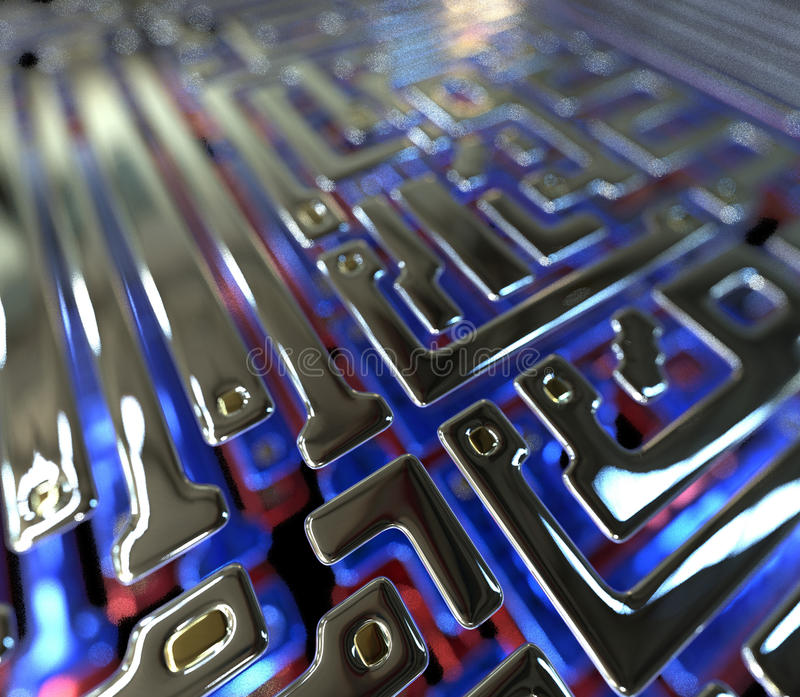 Abstract circuit inside microchip vector illustration