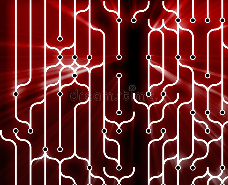 Abstract circuitry royalty free illustration