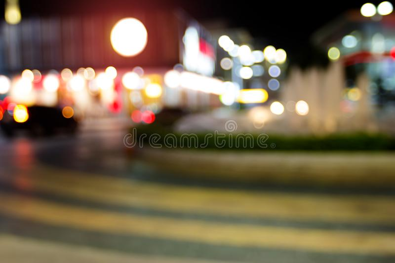 Abstract Circular Blur Bokeh Of Car In Urban Stock Photo ...