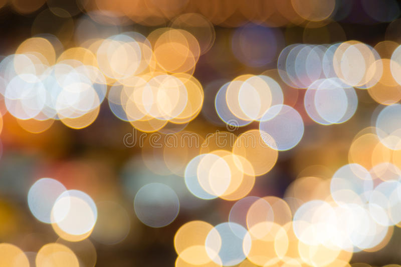 Abstract circular bokeh background of night light royalty free stock photography