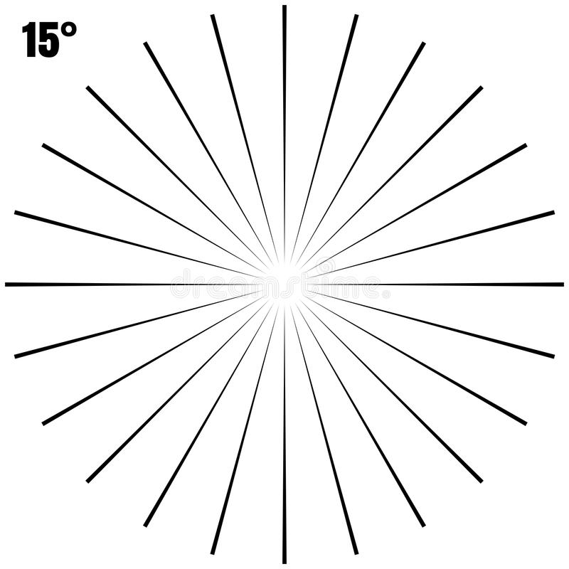 Abstract Circular Geometric Burst Rays On White. EPS 10 vector stock illustration