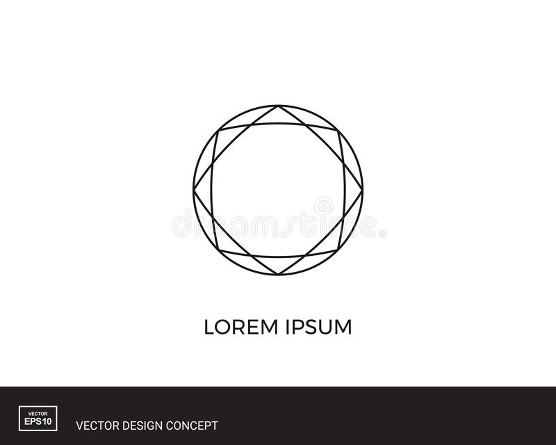 Abstract circular logo template. Round shape icon. stock illustration