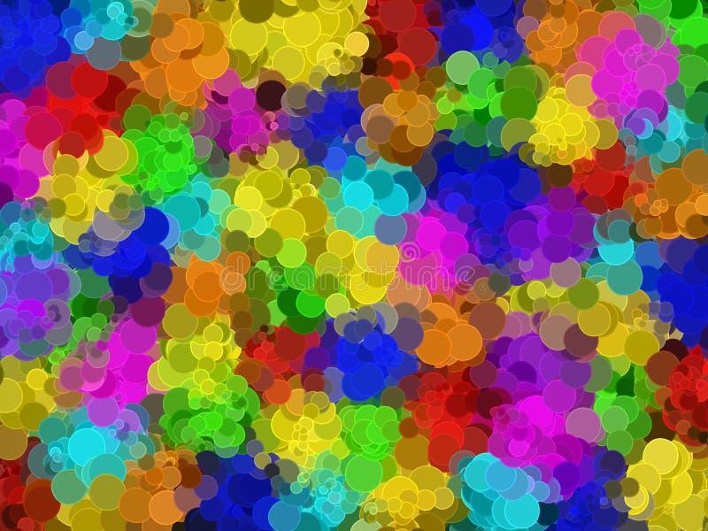 Abstract circular mosaic rainbow coloured web background stock illustration