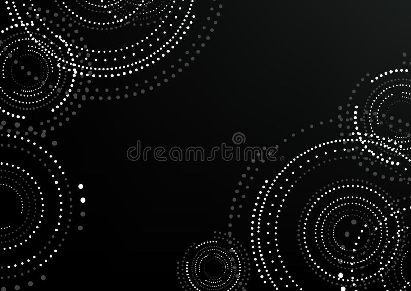 Abstract Circular Patterned Background vector illustration