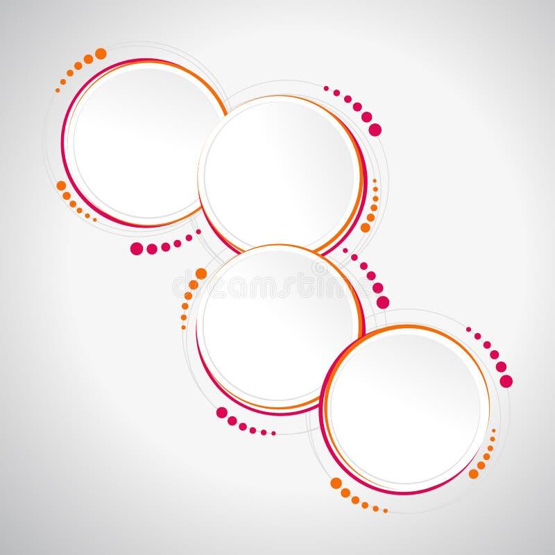Abstract cirkelmalplaatje - infographics, banner, druk royalty-vrije illustratie