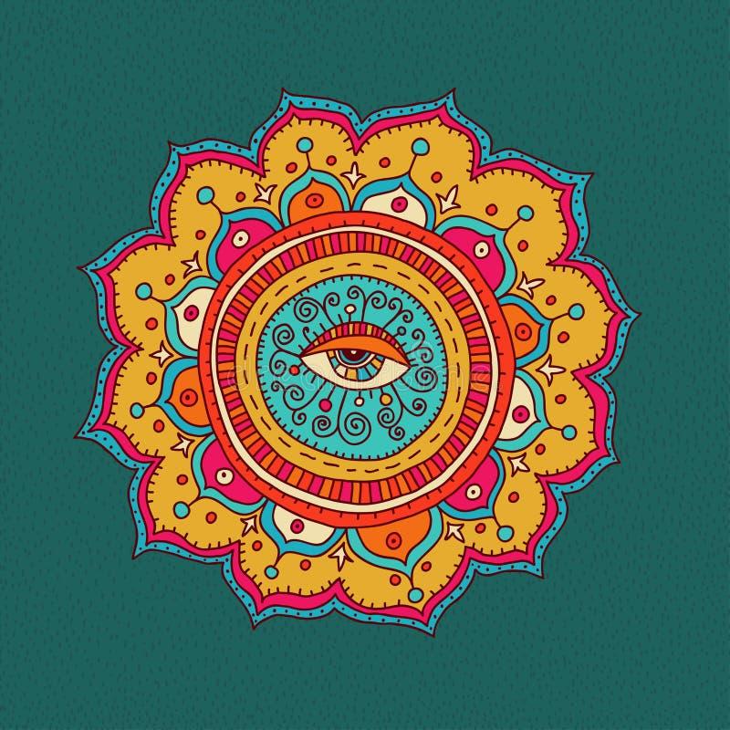 Abstract cirkelpatroon royalty-vrije illustratie