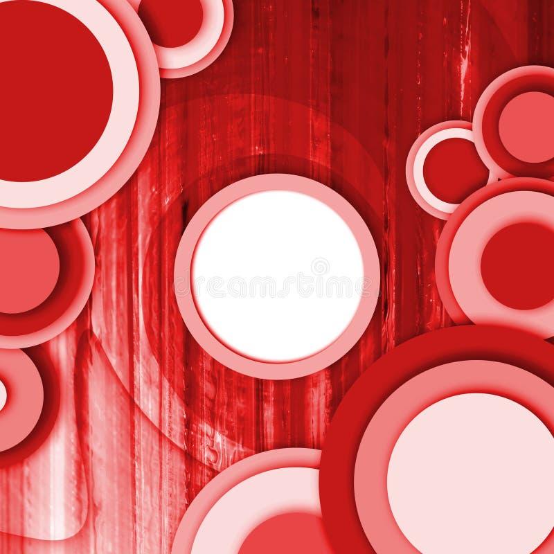 Abstract cirkelrood als achtergrond royalty-vrije illustratie