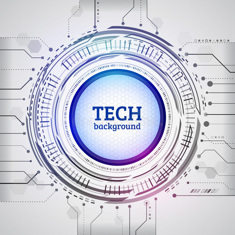 Abstract cirkeltechnologieconcept Hoog - technologie- mededeling vector illustratie