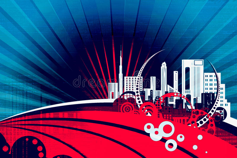 Download Abstract city stock image. Image of background, picture - 23906653