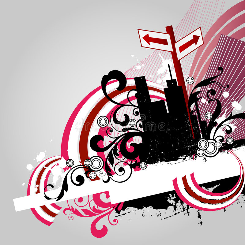 Abstract city. Illustration drawing of abstract city royalty free illustration