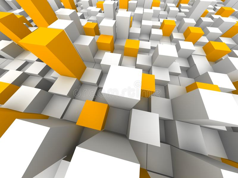Abstract city from above stock illustration