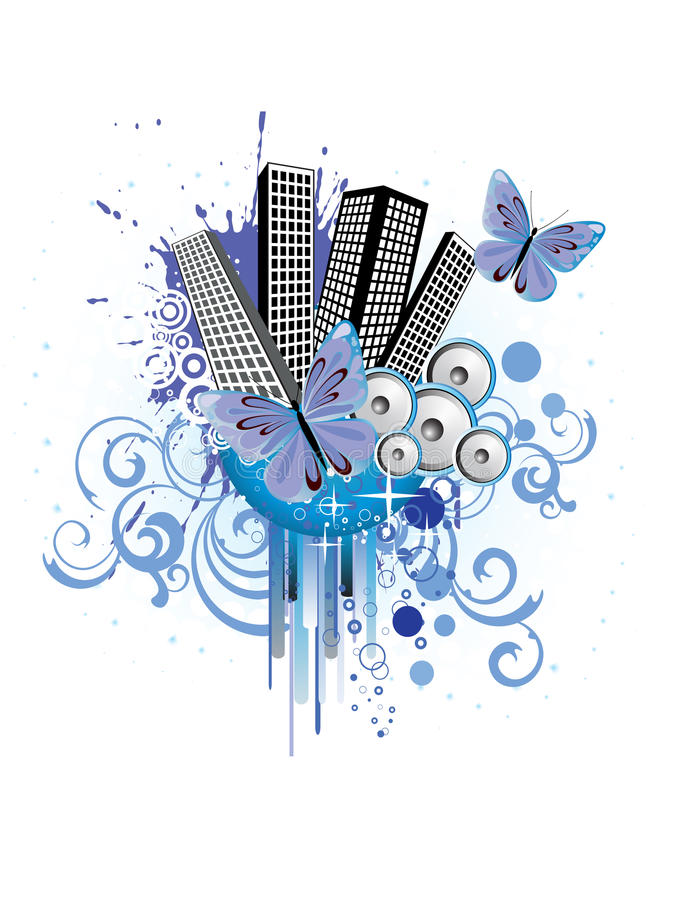 Download Abstract city background stock illustration. Image of gray - 19549438