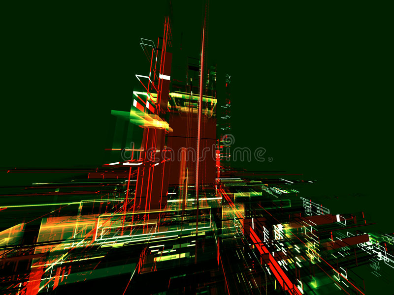 Abstract city background royalty free illustration
