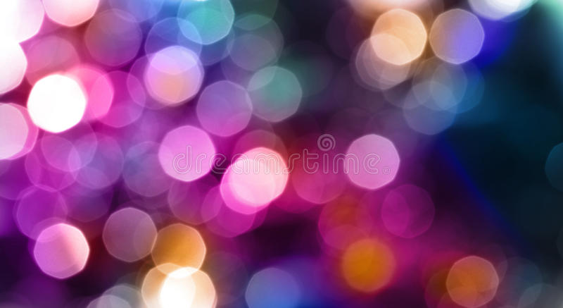 Abstract city lights blur blinking background. stock images
