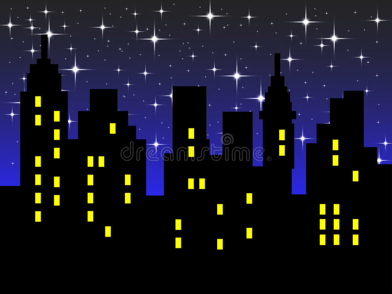 Abstract city silhouette stock illustration