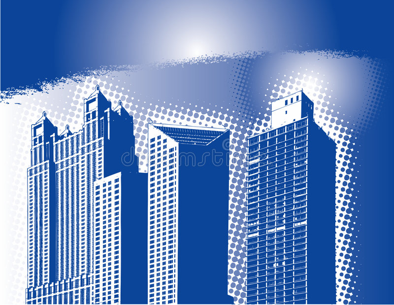 Abstract city skyline royalty free stock photography