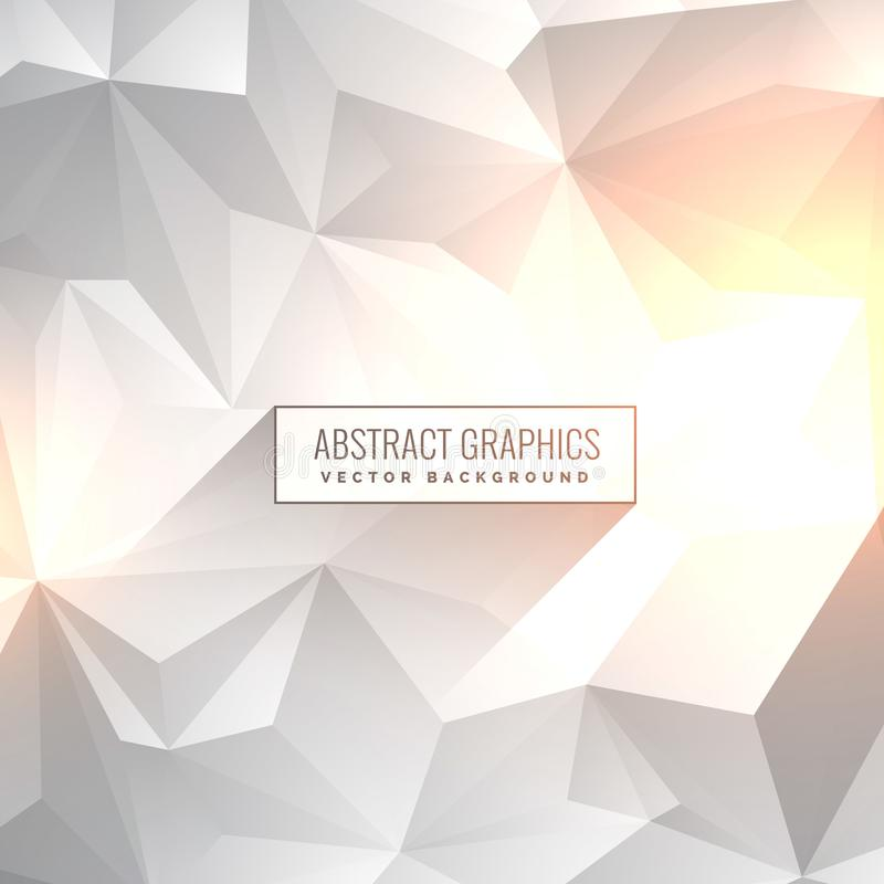 Abstract clean gray white background in low poly style vector illustration