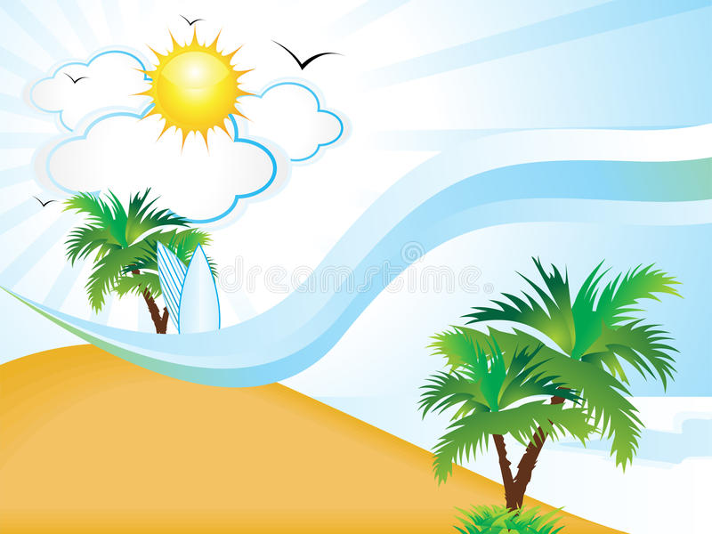 Abstract clean summer holiday background. Illustration vector illustration