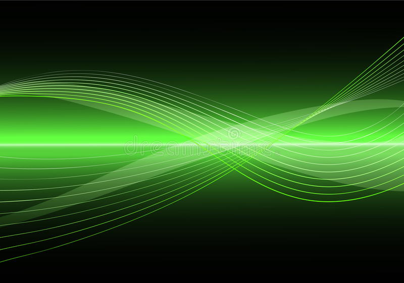 Abstract Clean Vector Wave Background royalty free illustration