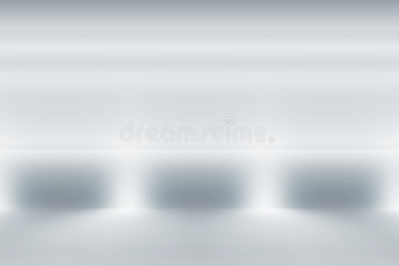 Abstract clean white light studio background with illumination. You can use it for different design purposes like business presentation, or banner backgrounds royalty free illustration