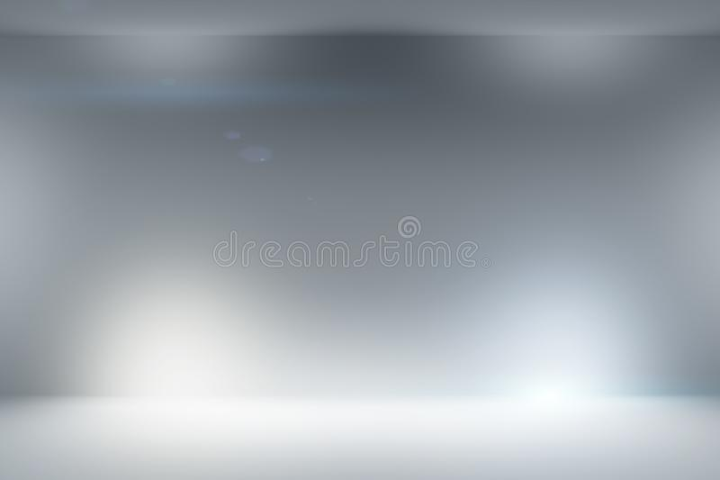 Abstract clean white light studio background with illumination. You can use it for different design purposes like business presentation, or banner backgrounds stock illustration