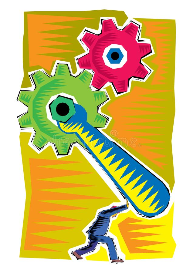 Abstract Clipart of Business illustration industrial process. Vector stock illustration