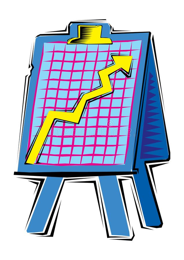 Abstract Clipart of a chart on board royalty free illustration