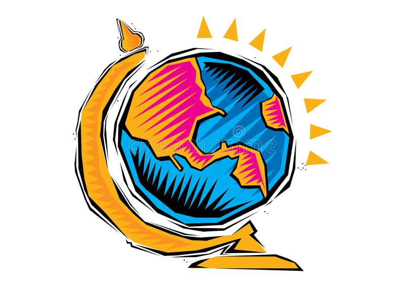Abstract Clipart of Global earth planet map royalty free illustration