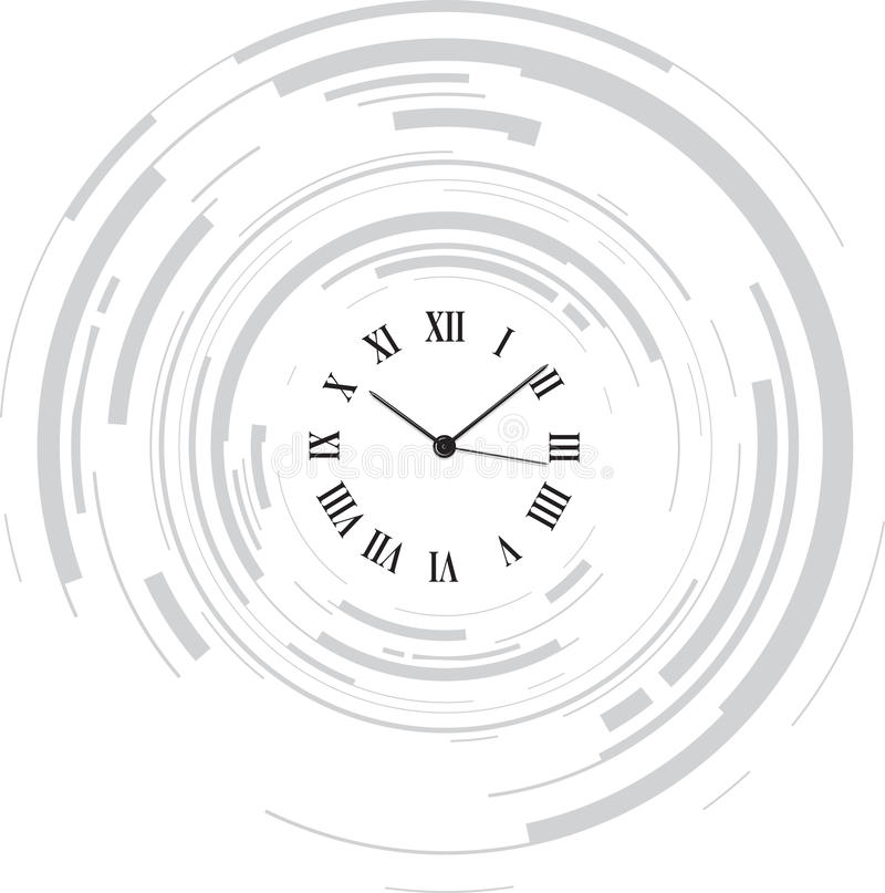 Abstract clock stock illustration