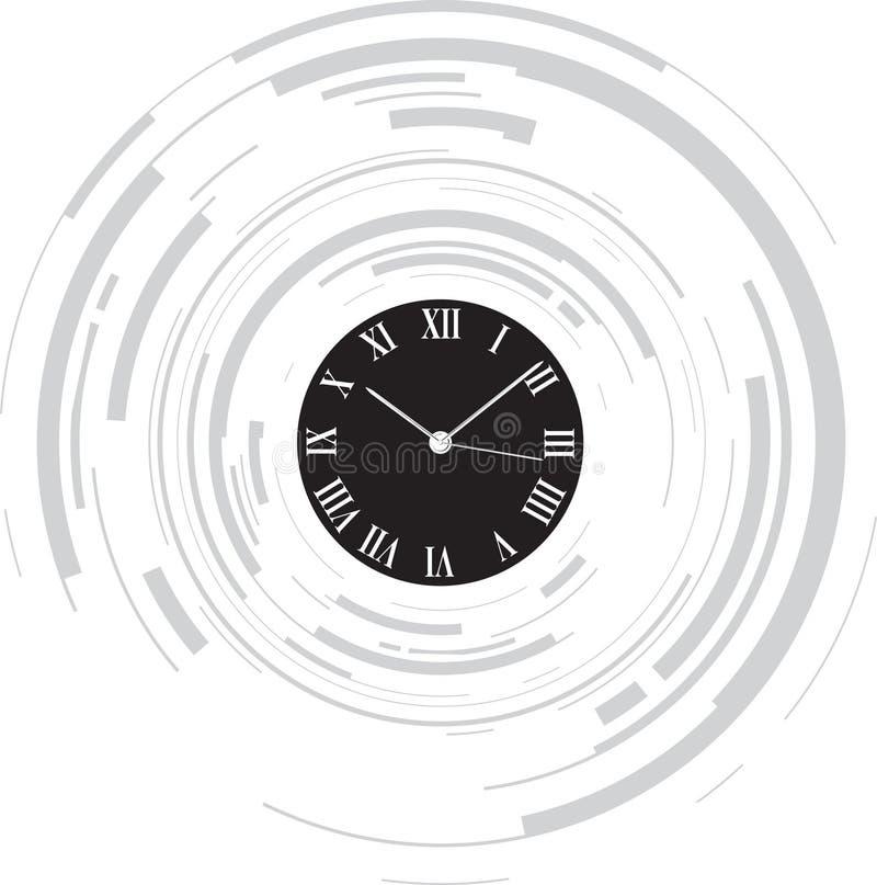 Abstract clock vector illustration