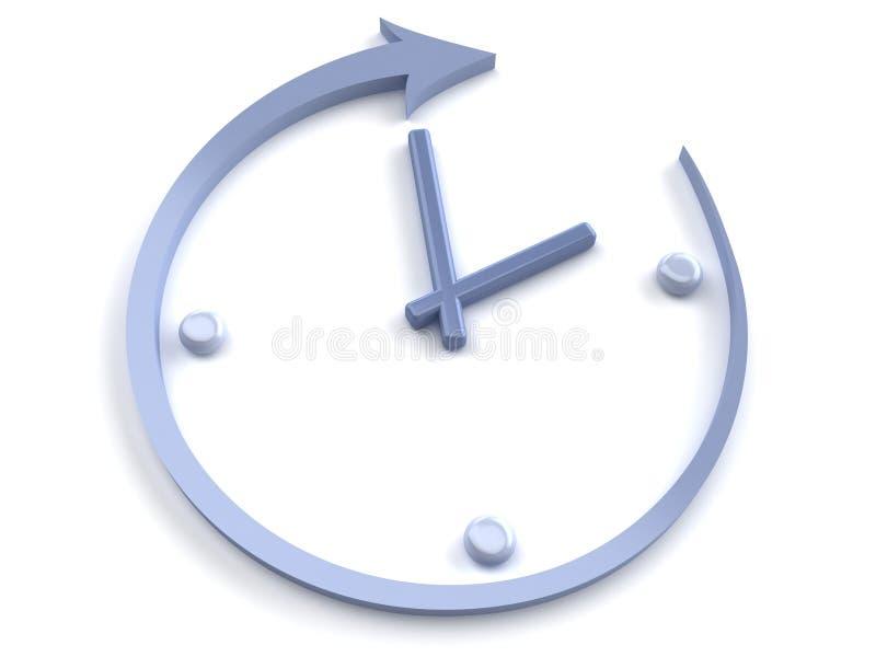 Abstract clock royalty free illustration