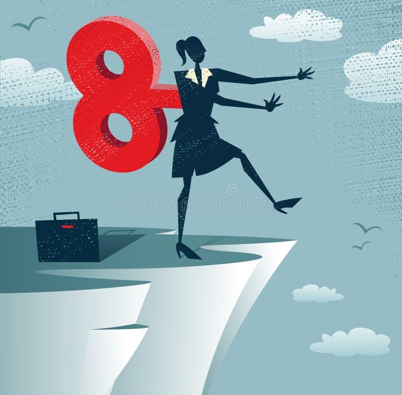 Download Abstract Clockwork Businesswoman Stock Vector - Illustration: 36116792