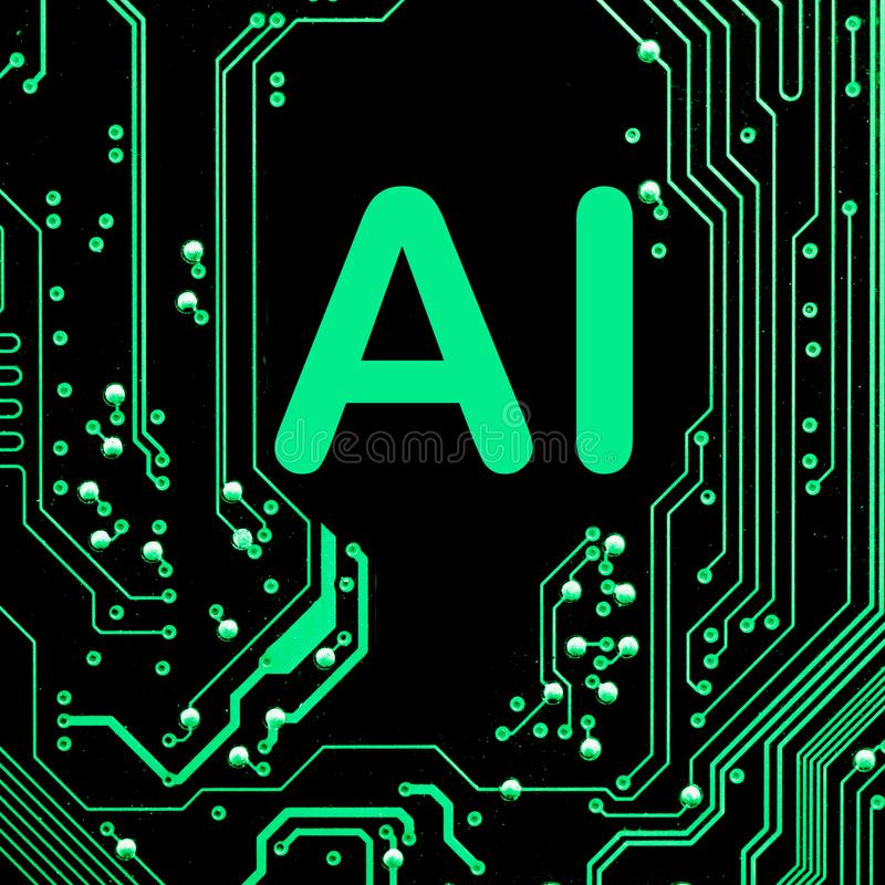 Abstract,close up of Mainboard Electronic computer background. artificial intelligence, ai royalty free stock images