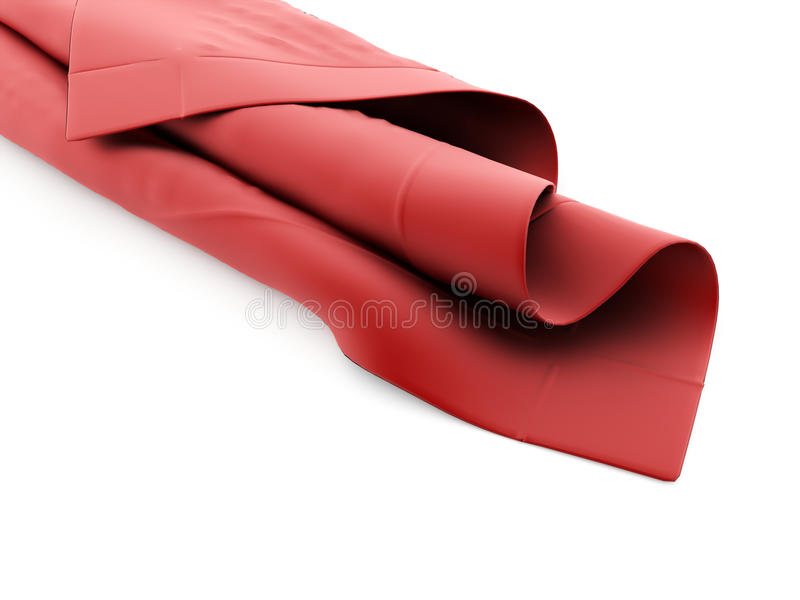 Abstract cloth rendered royalty free illustration